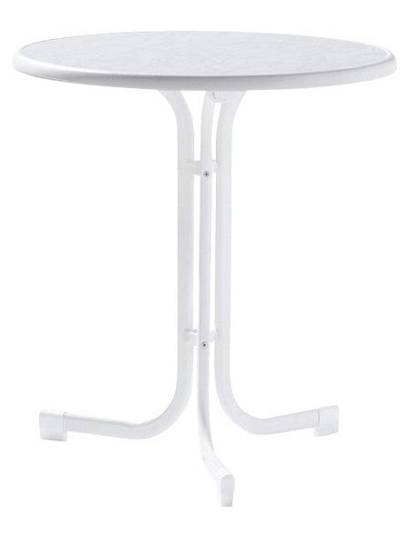 SIEGER Klapptisch mit Mecalit®-pro-Tischplatte, Ø 70 cm