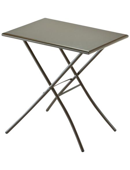 SUNGÖRL Klapptisch mit Stahl-Tischplatte, BxLxH: 50x70x73 cm