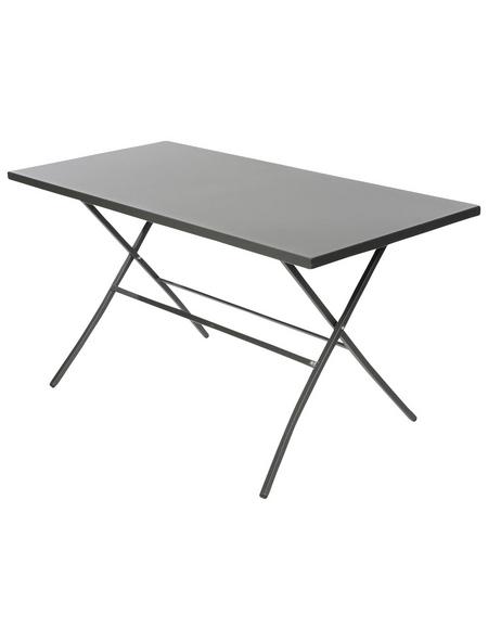 SUNGÖRL Klapptisch, mit Stahl-Tischplatte, BxTxH: 140 x 67 x 73 cm