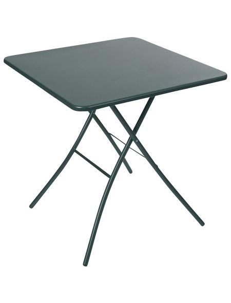 SUNGÖRL Klapptisch, mit Stahl-Tischplatte, BxTxH: 67 x 67 x 73 cm
