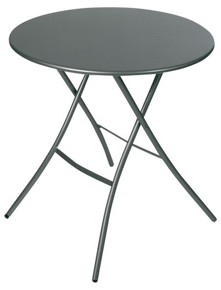 SUNGÖRL Klapptisch, mit Stahl-Tischplatte, Ø x H: 67 x 73 cm
