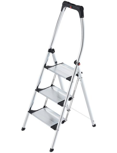 HAILO Klapptritt »K100 TopLine«, 3 Sprossen, Aluminium