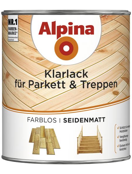 ALPINA Klarlack für innen, 0,75 l, farblos, seidenmatt