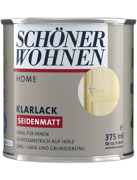 SCHÖNER WOHNEN FARBE Klarlack, transparent, seidenmatt