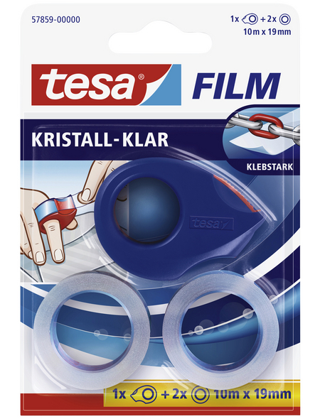 TESA Klebeband, rot/blau, BxL: 9,5 x 2,7 cm