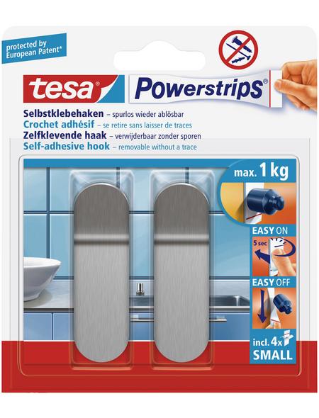 TESA Klebehaken, Metall, 1 kg, 2 Stk.