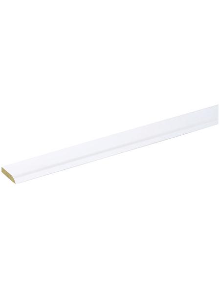 FN NEUHOFER HOLZ Klebeleiste, weiß, MDF, LxHxT: 240 x 0,5 x 2,4 cm