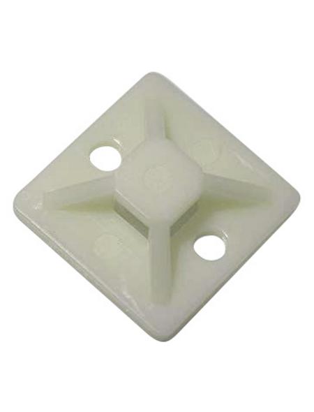 Schneider Electric Klebesockel, Kabelbinder mit maximal 3,6 mm, Kunststoff, weiß