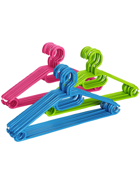 WENKO Kleiderbügel, BxHxL: 40,5 x 21 x 0,7 cm, Polypropylen (PP), mehrfarbig
