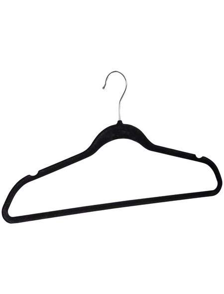 WENKO Kleiderbügel, BxHxL: 45 x 23,5 x 0,4 cm, Kunststoff (ABS), schwarz