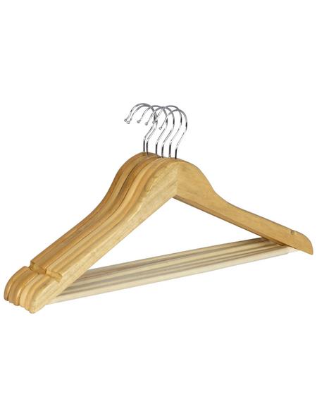 WENKO Kleiderbügel, BxHxL: 45 x 23,5 x 1,2 cm, Holz, braun