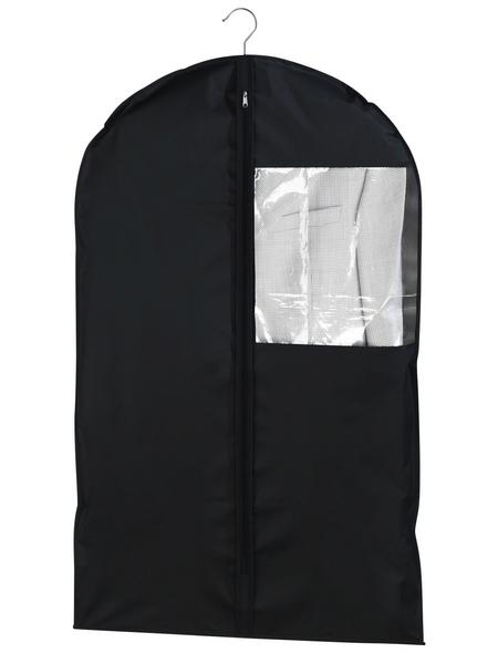 WENKO Kleidersack »Deep Black«, BxHxL: 6 x 0,01 x 100 cm, Polyethylen-Vinylacetat (PEVA), schwarz