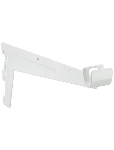 ELEMENT SYSTEM Kleiderstangenträger, Weiß, Metall, LxBxH: 355 x 355 x 120 mm