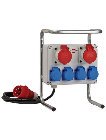 Brennenstuhl® Kleinstromverteiler »BKV 2/4 G IP44 «, 6-fach, Kabellänge: 2 m, IP44