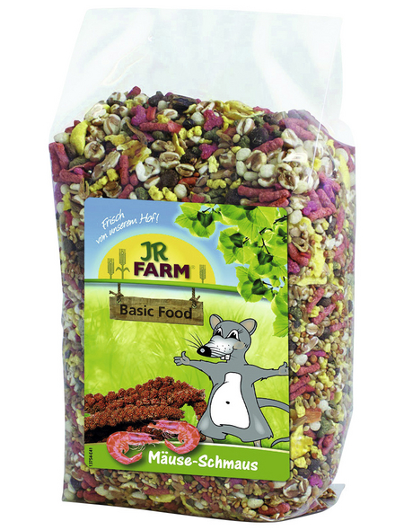 JR FARM Kleintierfutter »Mäuse-Schmaus«, Gemüse / Getreide / Insekten, 6x600 g