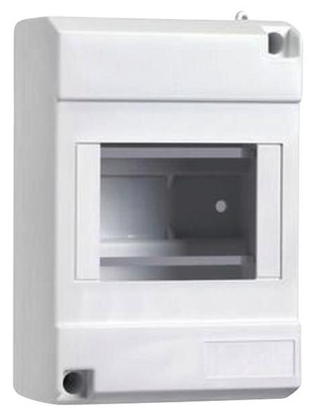 Schneider Electric Kleinverteiler, 1-reihig, 4 Module, 6 x 8,8 x 13 cm, Kunststoff, Weiß