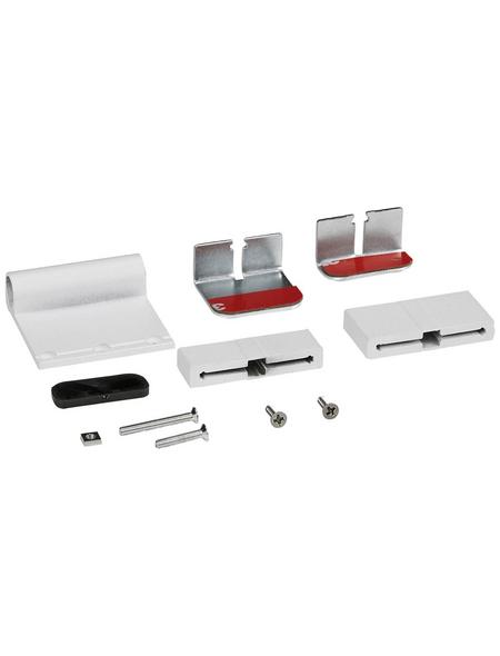 WINDHAGER Klemmadapter, Aluminium, weiß, 3 Stück