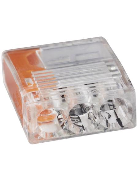 BESTEST Klemme, Compact, Kunststoff, Orange, Kabel von 0,5 bis 2,5 mm²