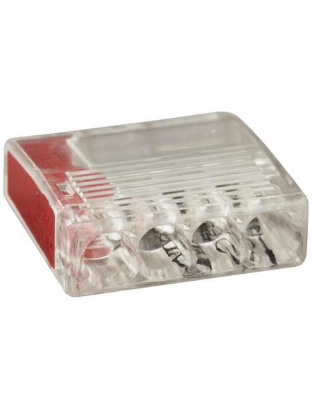 BESTEST Klemme, Compact, Kunststoff, Rot, Kabel von 0,5 bis 2,5 mm²