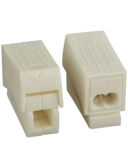 BESTEST Klemme, Kunststoff, Grau, Kabel von 1,5 bis 2,5 mm²