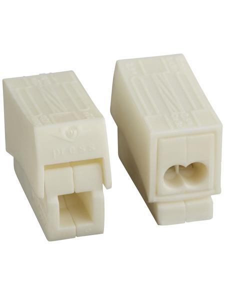 BESTEST Klemme, Kunststoff, Weiß, Kabel von 1,5 bis 2,5 mm²