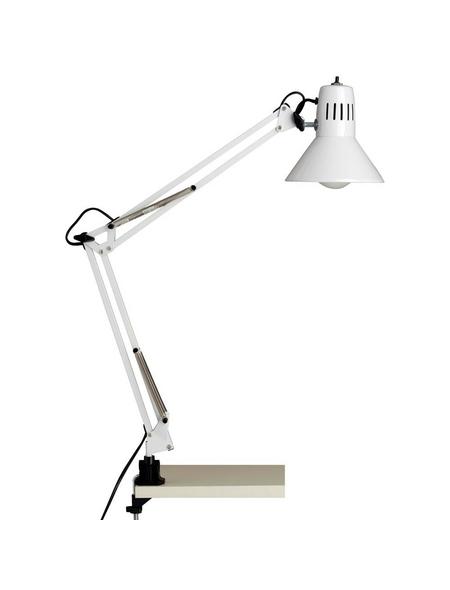 BRILLIANT Klemmleuchte »Hobby« Weiß mit 40 W, Schirm-Ø x H: 17 x 70 cm, E27 ohne Leuchtmittel