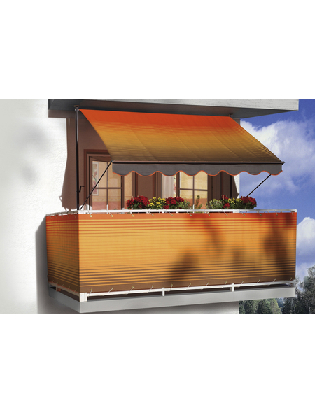 Klemmmarkise, BxT: 150x150 cm, braun/orange gestreift