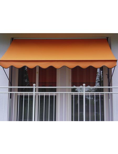 Klemmmarkise, BxT: 200x150 cm, orange gestreift