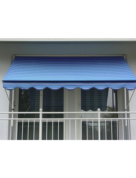 ANGERER FREIZEITMÖBEL Klemmmarkise, BxT: 250x150 cm, blau gestreift