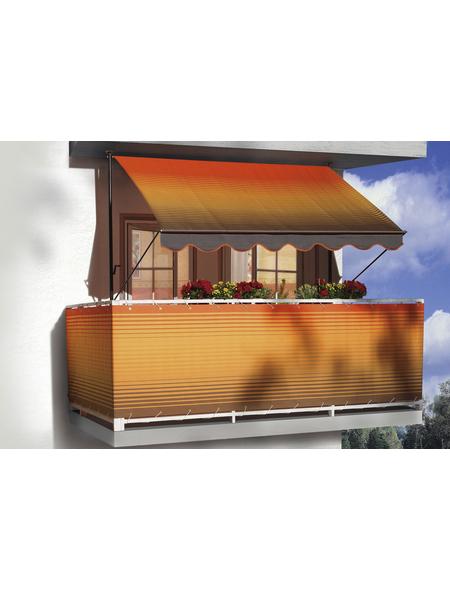 Klemmmarkise, BxT: 350x150 cm, braun/orange gestreift