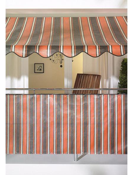 Klemmmarkise, BxT: 400x150 cm, braun/orange gestreift