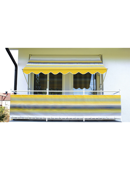 Klemmmarkise, BxT: 400x150 cm, gelb gestreift