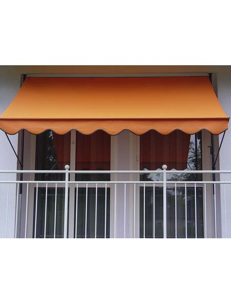 Klemmmarkise, BxT: 400x150 cm, orange