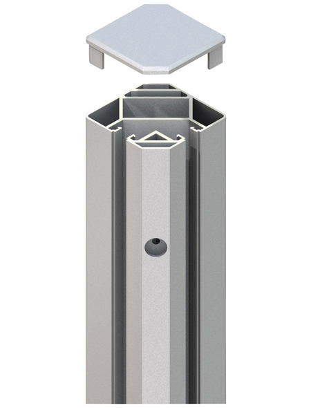 TraumGarten Klemmpfosten »System «, Metall, BxLxT: 8 x 105 x 8 cm