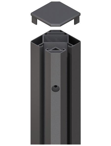 TraumGarten Klemmpfosten »System«, Metall, BxLxT: 8 x 105 x 8 cm