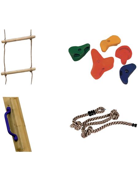 AKUBI Kletter-Set, BxL: 100 x 100 cm, bunt
