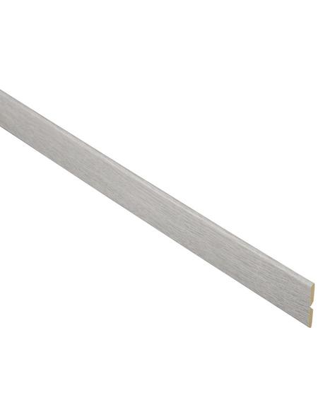 FN NEUHOFER HOLZ Knickwinkelleiste, Esche grau, MDF, LxHxT: 240 x 2,2 x 0,5 cm