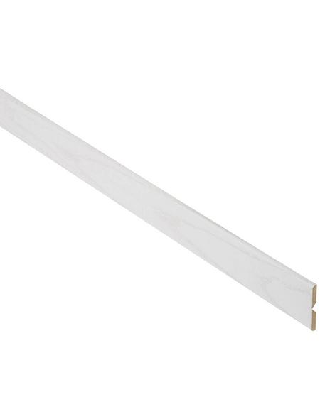 FN NEUHOFER HOLZ Knickwinkelleiste, Esche weiß, MDF, LxHxT: 240 x 2,2 x 0,5 cm