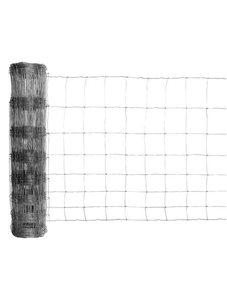 FLORAWORLD Knotengeflecht, HxL: 200 x 5000 cm, silberfarben