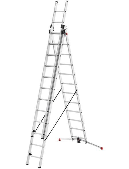 HAILO Kombileiter »S100 ProfiLOT«, 24 Sprossen, Aluminium