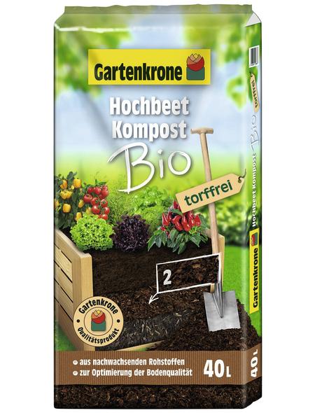 GARTENKRONE Kompost »Bio«, für Outdoorpflanzen , torffrei