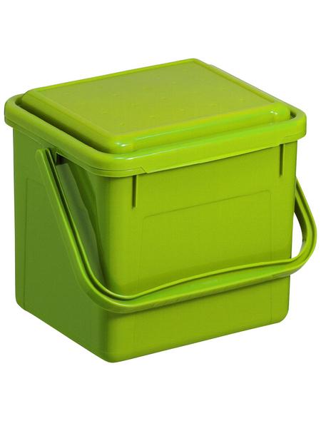 Rotho Komposteimer »Bio«, Klappdeckel, 5 l, Kunststoff