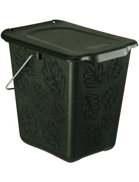 Rotho Komposteimer »Greenline«, Klappdeckel, 7 l, Kunststoff