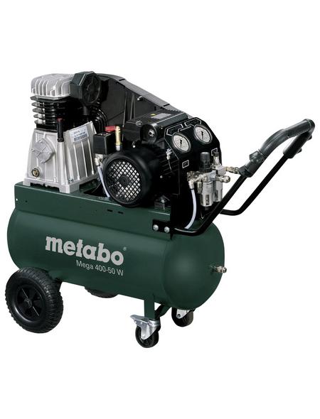 METABO Kompressor »Mega 400-50 W«, 10 bar, Max. Füllleistung: 300 l/min