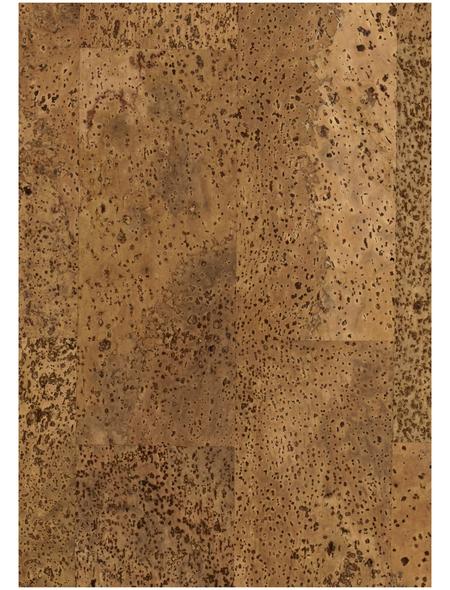 SCHÖNER WOHNEN Korkparkett, BxL: 295 x 905 mm, Stärke: 10,5 mm, natur