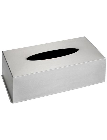 WENKO Kosmetikbox, Höhe: 8 cm, silberfarben