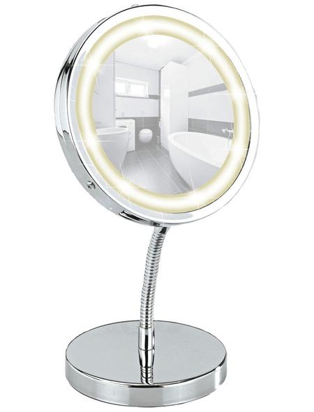 WENKO Kosmetikspiegel »Brolo«, beleuchtet, rund, BxH: 15 x 16,5 cm