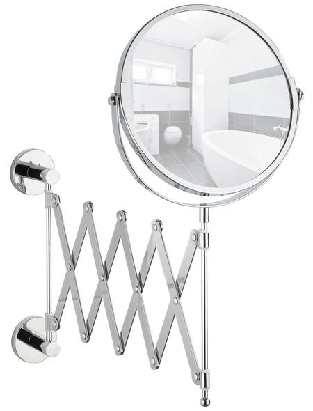 WENKO Kosmetikspiegel »Elegance«, rund, Ø 17 cm, chromfarben
