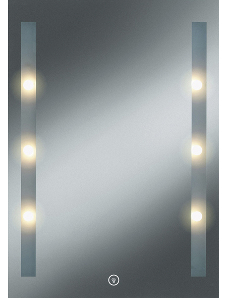 KRISTALLFORM Kosmetikspiegel »Moon Light 1«, beleuchtet, BxH: 50 x 70 cm
