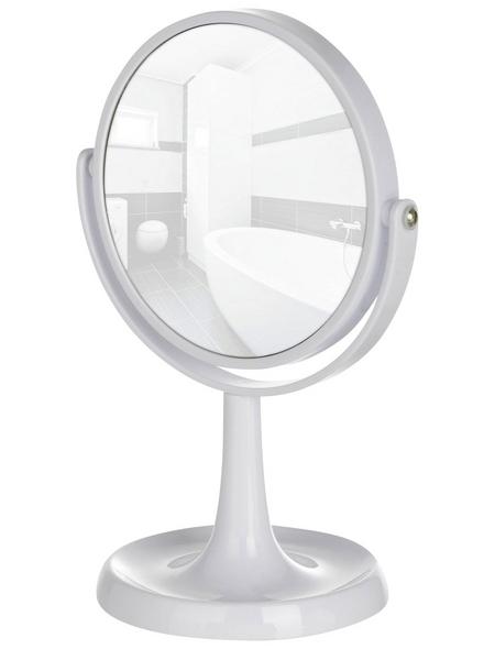 WENKO Kosmetikspiegel, rund, Ø 15 cm, weiß